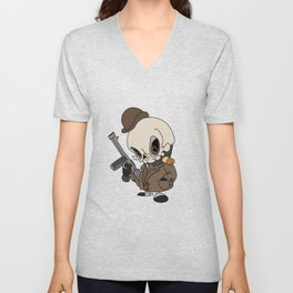 Cute Gangster Skull Unisex V-Neck