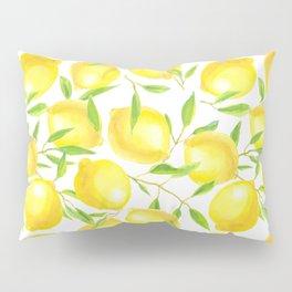 Lemons and leaves  pattern design Pillow Sham