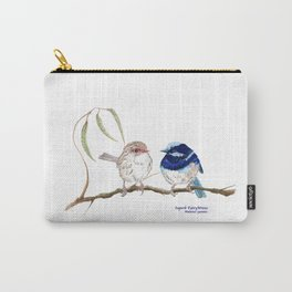 Fairy Blue Wrens Carry-All Pouch