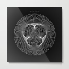 Jupiter : Saturn - Black Metal Print