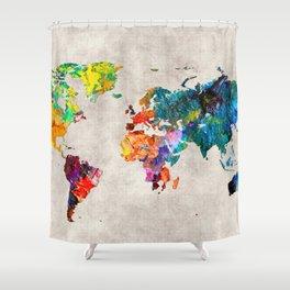 World Map 48 Shower Curtain
