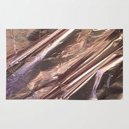 Rose Gold Foil Rug