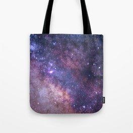 Purple Galaxy Star Travel Tote Bag
