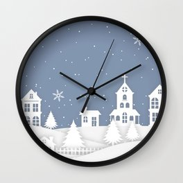 Christmas Town Wall Clock
