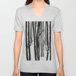 wood and snow Unisex V-Neck