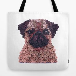 PUG- Hand-Rolled Paper Art Tote Bag