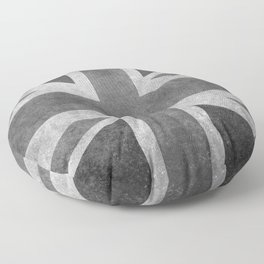 Union Jack Vintage retro style B&W 3:5 Floor Pillow