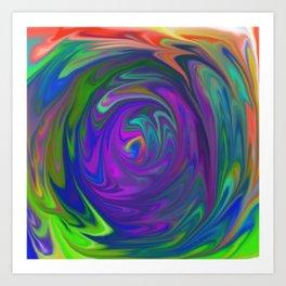 Color Tunnel Art Print