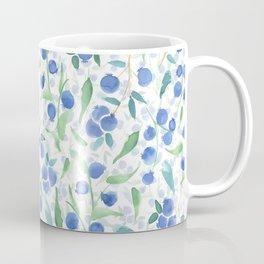 Watercolor Blueberries Coffee Mug