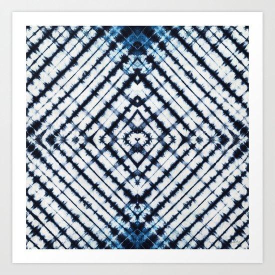 Diamonds Indigo Art Print