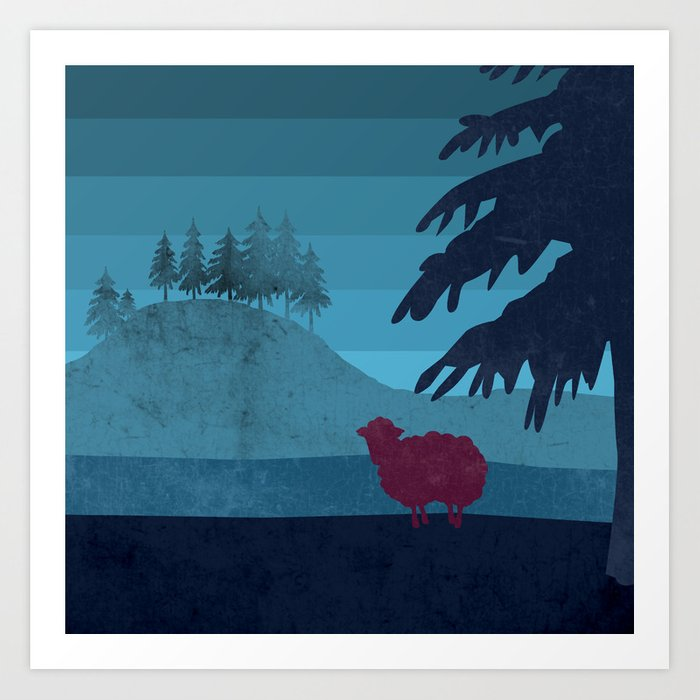 Sheep you are not alone Art Print