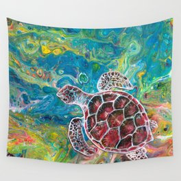Sea Turtle Dream Wall Tapestry