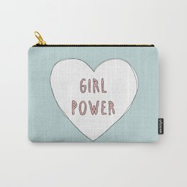 Girl power heart illustration - Girl Gang Prints Carry-All Pouch