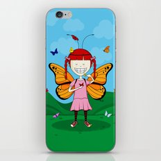 i heart butterflies iPhone & iPod Skin