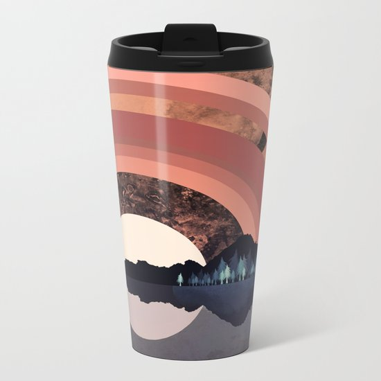 Forest Night Reflection Metal Travel Mug