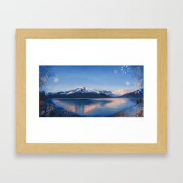 View of Mountain and Stars at Resurrection Bay Framed Art Print