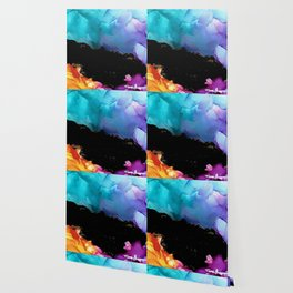 Mountainside Abstract Wallpaper