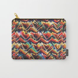 Colorful Geometric Motif Carry-All Pouch