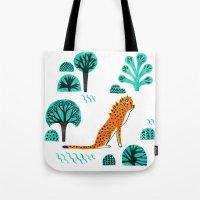 jaguar Tote Bags featuring  Jaguar by Hui_Yuan-Chang
