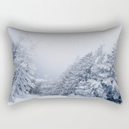 snow covered trees Rectangular Pillow