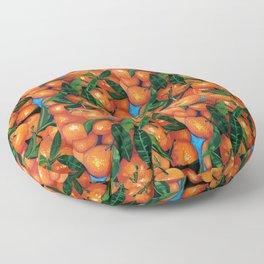 Florida Oranges Floor Pillow