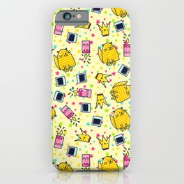 Cute Funny Happy Smiling Cat Pattern iPhone Case