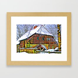 At the mill Framed Art Print