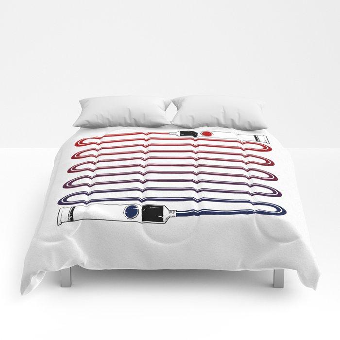 Neutral. Comforters