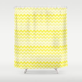 Yellow Ombre Chevron Shower Curtain