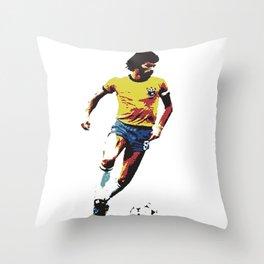 Socrates, Brazilian soccer superman Throw Pillow