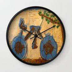 Riding Through Life Wall Clock