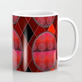 Fleur De Lis Holiday Pattern FDL Red Coffee Mug