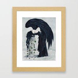 Despair Gothic Angel Framed Art Print