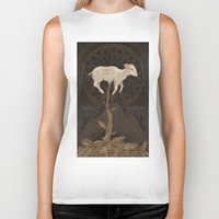 vegetable Biker Tanks featuring Vegetable Lamb of Tartary by Jessica Roux