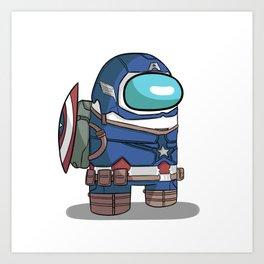 Cap is Among Us Art Print