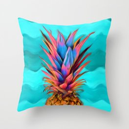 Colorful Pineapple, Ananas fruit Throw Pillow
