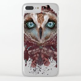 Owl Dream Catcher Clear iPhone Case