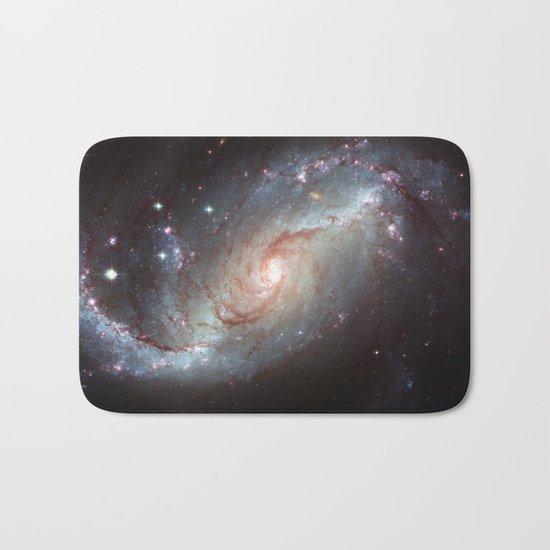 Barred spiral galaxy Bath Mat