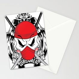 Ltd Edition: pirate skull art Stationery Cards