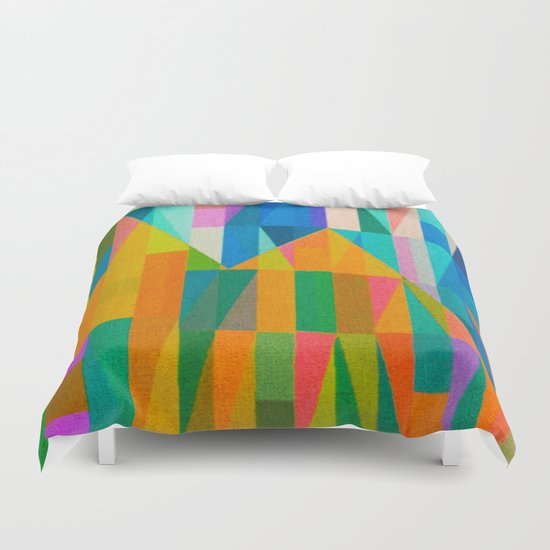 By Climbing Colors Duvet Cover