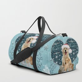It's winter and christmas time, cute kitten and dogs Duffle Bag