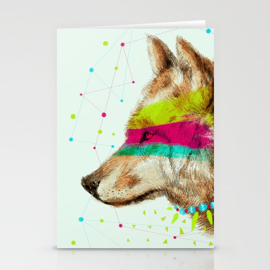 Cherokee Wolf II Stationery Cards