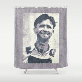 WORKING CLASS HERO / 1937 Lumber Mill Worker Shower Curtain