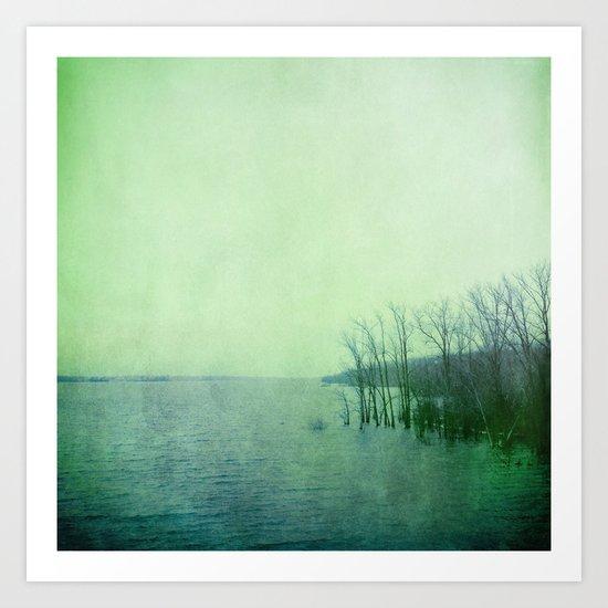 Inner Journey - Blue Art Print