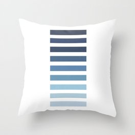 Sky and Water Blue Palette Throw Pillow