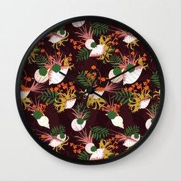 Terrarium purple Wall Clock