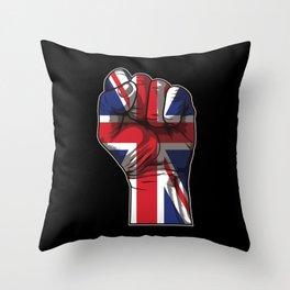 United Kingdom Raised Fist | Union Jack  Throw Pillow