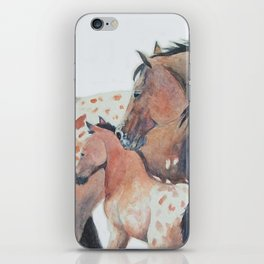 Mother's Love Appaloosa Horses iPhone Skin