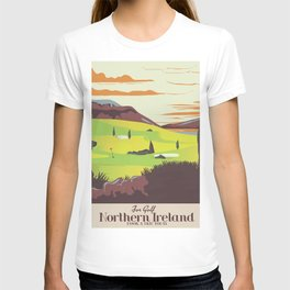 'For Golf' Northern Ireland Travel poster T-shirt