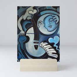 Black & Bleu Mini Art Print